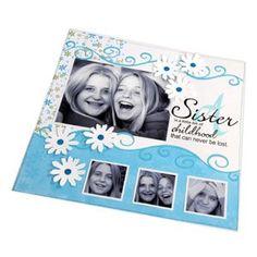 Sisters, Swirls & Flowers Scrapbook Page