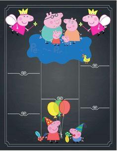 Invitacion Peppa Pig, Cumple Peppa Pig, Peppa Pig Invitations, Birthday Invitations, Pig Birthday, 4th Birthday Parties, Peppa Big, George Pig Party, Aniversario Peppa Pig