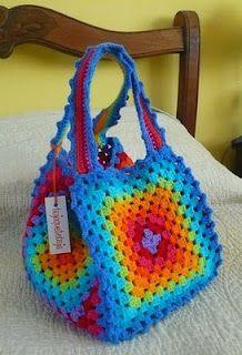 Teje que te teje: crochet cartera bag colores hexagonos