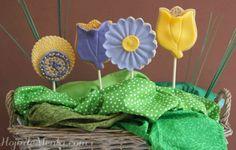 Galletas decoradas maceta para HojadeMenta