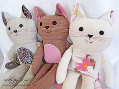 Cat Doll Sewing Pattern & Tutorial  PDF door CreateJoyMakeStuff, $9,00
