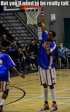 Why do Globetrotters make the best coaches ever? Because they teach kids how to dunk!