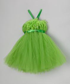 Love this Green Feather Bling Tutu Dress - Infant, Toddler & Girls by Bébé Oh La La on #zulily! #zulilyfinds