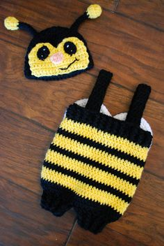 Crochet Bee Outfit by LoopySlipKnot on Etsy, $30.00