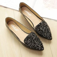 Cheap flats shoes women, Buy Quality fashion flat shoes directly from China flat shoes Suppliers: 2017 new Fashion rhinestone pointed toe ballet flat shoes women flats shoes woman plus size New Shoes, Boat Shoes, Women's Shoes, Rene Caovilla, Prom Shoes, Dress Shoes, Loafer Shoes, Loafers, Fashion Shoes