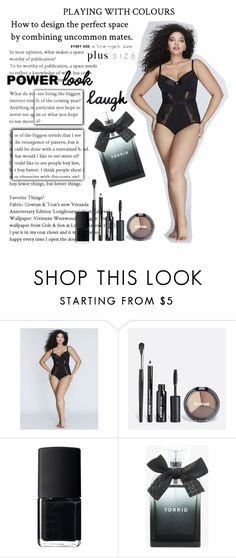 """""""B for Beautiful"""" by andra-andu ❤ liked on Polyvore featuring Cacique, Avenue, NARS Cosmetics, Torrid and powerlook"""