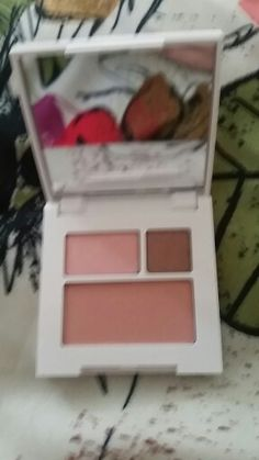 Clinique Strawberry Fudge shadow duo and pink blush.