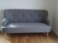 3 sitzer sofa stoff venise kobaltblau sofas pinterest sessel