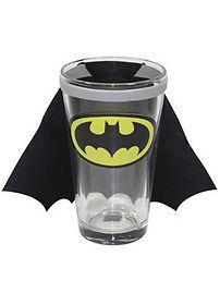 $14.32 BIN on EBay - Batman Caped Pint Glass 2012 New Novelty Fun Stuff | eBay