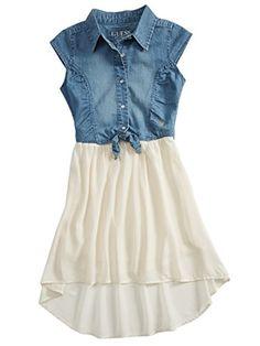 GUESS Kids Big Girl Chambray and Chiffon Two-Fer Dress (7-16) GUESS Kids http://www.amazon.com/dp/B00RE6NUGO/ref=cm_sw_r_pi_dp_Ao.dwb0JNZ3P8