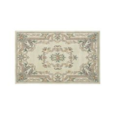 Rugs America New Aubusson Framed Fl Wool Rug Green Products And