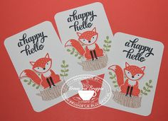 Yvonne is Stampin' & Scrapping: Stampin' Up! Foxy Friends cards #stampinup