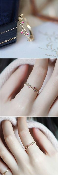 Petite vine ring , Dainty Vines Ring , Beautiful Rings Source by Cutiegiftsstore Cute Jewelry, Jewelry Gifts, Gold Jewelry, Jewelry Accessories, Jewelry Design, Silver Bracelets, Gold Necklace, Branch Ring, Accesorios Casual