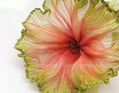 Beautiful Ribbon Hibiscus by Shibori Girl Read all of the posts by shiborigirl on Shibori Girl Shibori Girl this flower is made from ribbon! where to go from here… – Shibori Girl wondering… every day I wonder. yesterday I wondered how the vat was do Ribbon Art, Fabric Ribbon, Ribbon Crafts, Flower Crafts, Ribbon Flower, Faux Flowers, Diy Flowers, Fabric Flowers, Paper Flowers
