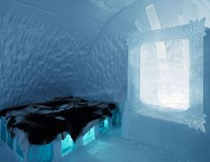 The ice hotel in Sweden. When I saw a television program detailing the yearly construction of this unique hotel I determined I will stay there one day. Ice Hotel Sweden, Oh The Places You'll Go, Places To Visit, Unusual Hotels, Swedish House Mafia, Alesso, Television Program, Yearly, Travel Europe