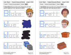 "Produce Consonant Blends ""Bl"" and ""Br"": Lesson 5, Book 1 (Newitt Grade 1 Prereading Series)"