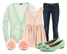 Sweet Mint by qtpiekelso on Polyvore featuring J Brand and Lipstik