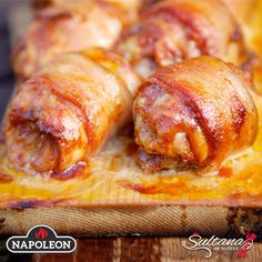 Planked Bacon Wrapped Chicken Thighs
