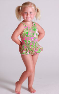 this little girl is adorable in this lilly swimsuit!!!!!!!