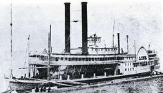 Steamboat: NEW FALLS CITY Built: 1858 Tonnage: 880 Clemens' Service: 30 October - 8 December 1858 Pilot: probably Horace Bixby Captain: James B. Woods Fate: 1861 acquired by Confederacy and later sunk in Red River to block river traffic. Wreckage wasn't cleared until 1880.