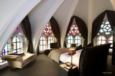I would LOVE to get my hands on this suite at martin's patershof in mechelen belgium...the hotel was originally a franciscan church...