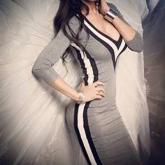 Rochie dreapta cu decolteu in V Bodycon Dress, Casual, Dresses, Fashion, Vestidos, Moda, Body Con, Fashion Styles, Dress
