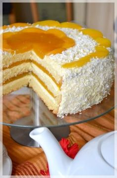 Tort śmietankowo- brzoskwiniowy i WORLD BAKING DAY Polish Desserts, Polish Recipes, Cookie Desserts, Sweet Recipes, Cake Recipes, Easy Blueberry Muffins, Unique Desserts, Cake Bars, Russian Recipes
