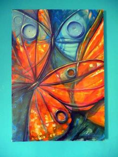 cuadros de mariposas modernos - Buscar con Google Fabric Painting, Painting & Drawing, Acrylic Art, Art Techniques, Gouache, Painting Inspiration, Collage Art, Creative Art, Modern Art