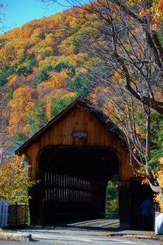 Drive through a covered bridge