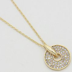 Pave Colure CZ Necklace in Gold