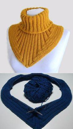 Treppenviertel Cowl pattern by Nicola Susen - Her Crochet Crochet Neck Warmer, Crochet Cap, Knitted Headband, Knitted Hats, Knitting Increase, Knitting Patterns, Crochet Patterns, Knit Cowl, Knitting Accessories