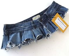 Here's a Reconstructed Distressed Micro Mini Denim by DistressedDestroyed from Etsy. Very hot, no? Denim Belt, Denim Shorts, Belly Dance Costumes, Sewing, Trending Outfits, Unique Jewelry, Mini, Hot, Skirts