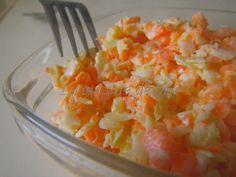 J'adore cette salade de choux blanc et carottes légèrement sucrée Il vous faut: 1/2 choux blanc 4 carottes 3 càs bombées de mayonnaise 3 càs de lait 2 càs de vinaigre 2 càs de sucre Coupez le choux en...