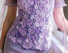 "Photo from album ""Журнал МОД on Yandex. Irish Crochet, Short Sleeve Dresses, Knitting, Beautiful, Collection, Tops, Zhurnal Mod, Yandex, Album"
