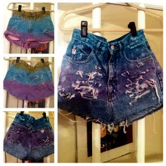 #DIY dyed shorts #tyedye