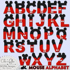 RATÓN letras del alfabeto - Letras Digital Mouse, ratón Alphas, Alphas Mickey Mouse, 8.5x11, - descarga instantánea