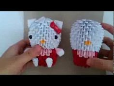 3D origami hello kitty new version part 3 - Published on Dec 27, 2013 (Previous vid) PART 2:  http://www.youtube.com/watch?v=pHe1_m...  How to make the bow: Not uploaded yet