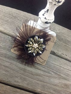 Purple Ostrich Feather Clip by flapperdesign on Etsy, $14.00