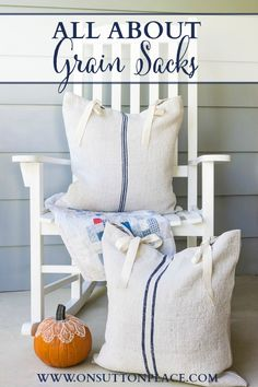 All About Antique Grain Sacks | On Sutton Place #frenchdecor