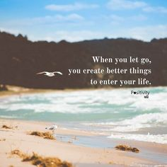 When you let go you create better things to enter your life. #positivitynote #positivity #inspiration