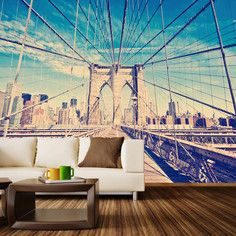 Brooklyn Bridge Mural M, $454, now featured on Fab.