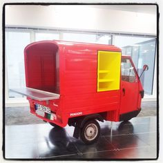 coffee cart piaggio ape van