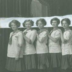 Regina College History (Photo: 80-2-35) Title: Women's Gymnastics Team (Part 1)