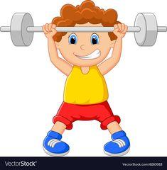 Cartoon lifting barbell vector image on VectorStock Classroom Charts, School Painting, Stick Figures, Teacher Hacks, Barbell, Adobe Illustrator, Vector Free, Royalty Free Stock Photos, Clip Art