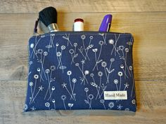 Dandelions Medium Makeup Bag - Dandelions Cosmetic Bag - Medium Toiletry Bag - Zipper Pouch by theWatermelonDesign on Etsy
