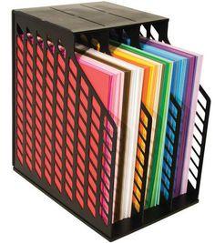 Advantus Cropper Hopper Easy Access Paper Holder, Black A. Scrapbook Storage, Scrapbook Organization, Craft Organization, Organize Scrapbook Paper, Paper Storage 12x12, Vinyl Storage, Shop Storage, 12x12 Scrapbook, Space Crafts