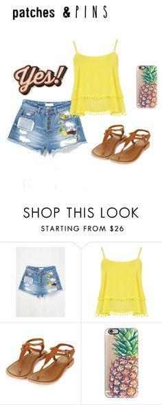 """Patches and pins"" by zagl ❤ liked on Polyvore featuring WearAll, Topshop, Casetify, Anya Hindmarch and patchesandpins"