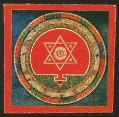 Himalayan Buddhist Art Sacred Geometry, Part 1 Tibetan Mandala, Tibetan Art, Tibetan Buddhism, Buddhist Art, Mandala Painting, Mandala Art, Tantra Art, Vajrayana Buddhism, Buddhist Practices