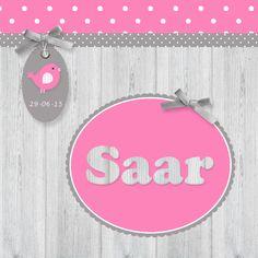 Geboortekaartje Saar Birth Announcements, Alex And Ani Charms, Baby, Baby Humor, Infant, Babies, Babys