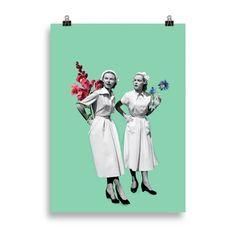 Lámina enfermeras | Cosa Bonita | Láminas para cuadros | Láminas bonitas Retro, Joker, Fictional Characters, Art, Nurse Gifts, Gift Shops, Pretty Images, Home Decoration, Bonito